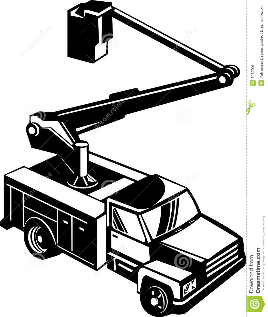 Bucket Truck Cherry Picker Royalty Free Stock Image - Image: 7078706