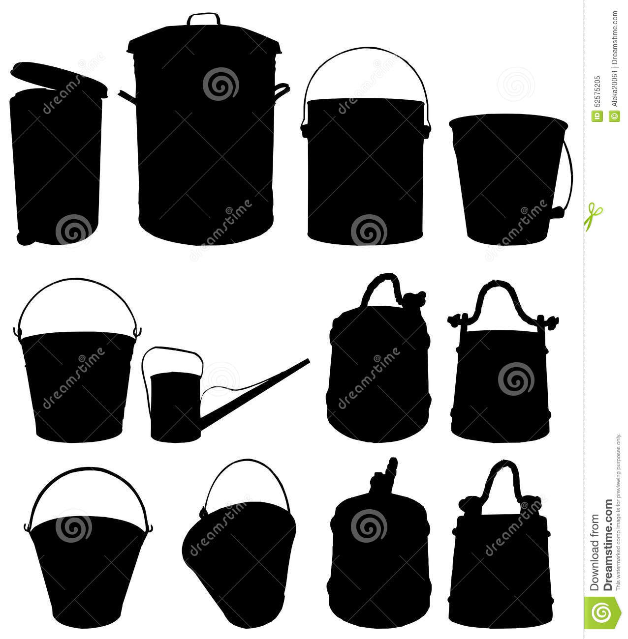 Bucket Stock Vector Image 52575205