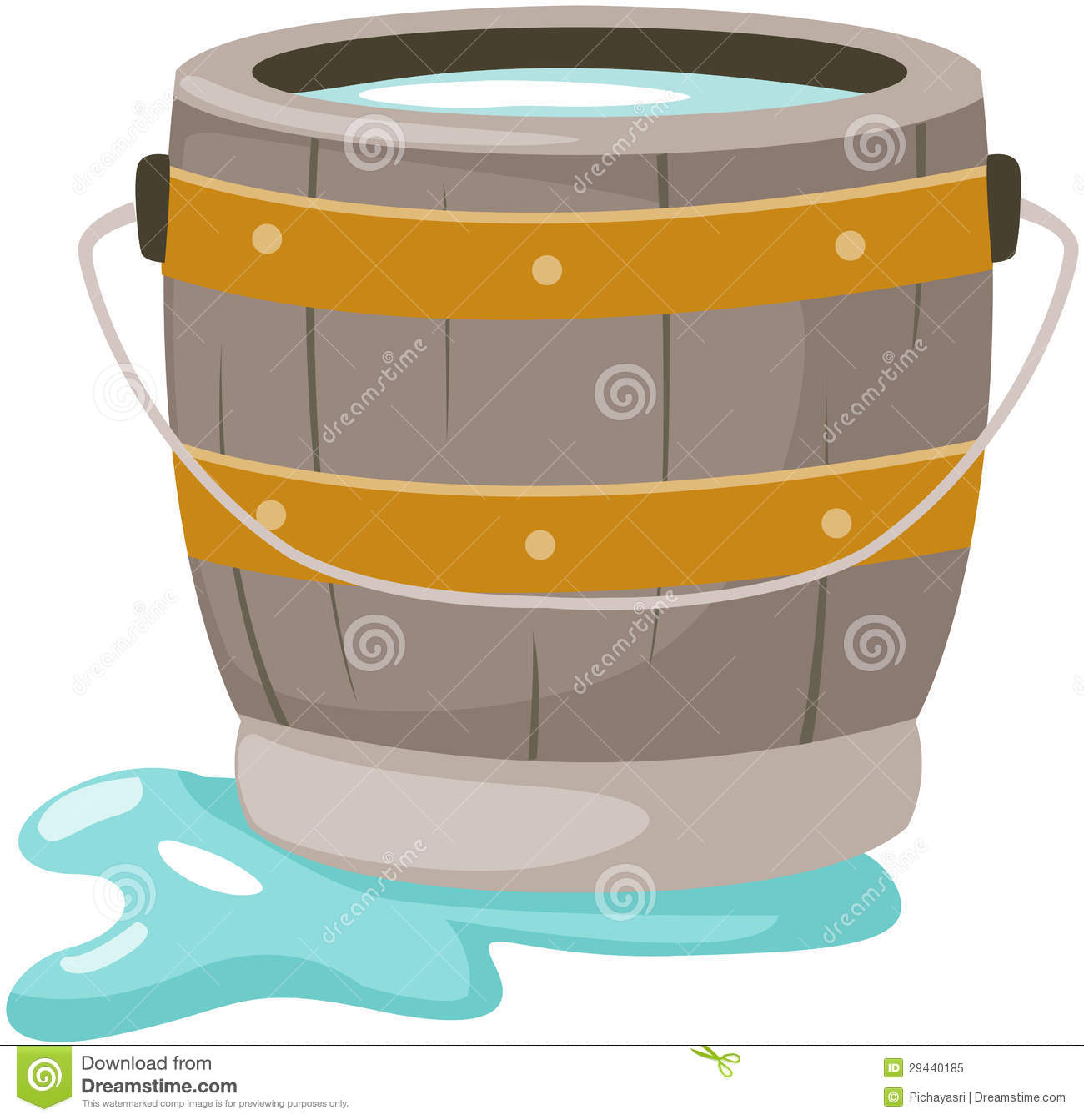 Bucket Of Water Royalty Free Stock Photo  Image: 29440185