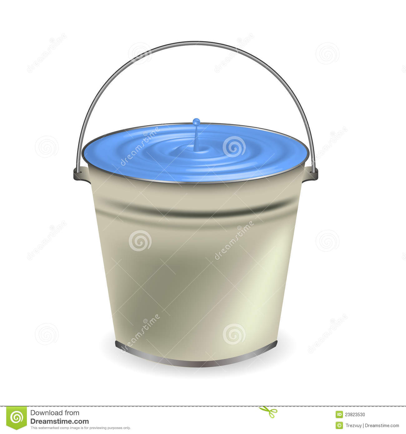 Bucket Of Water For Your Design Stock Photo  Image: 23823530