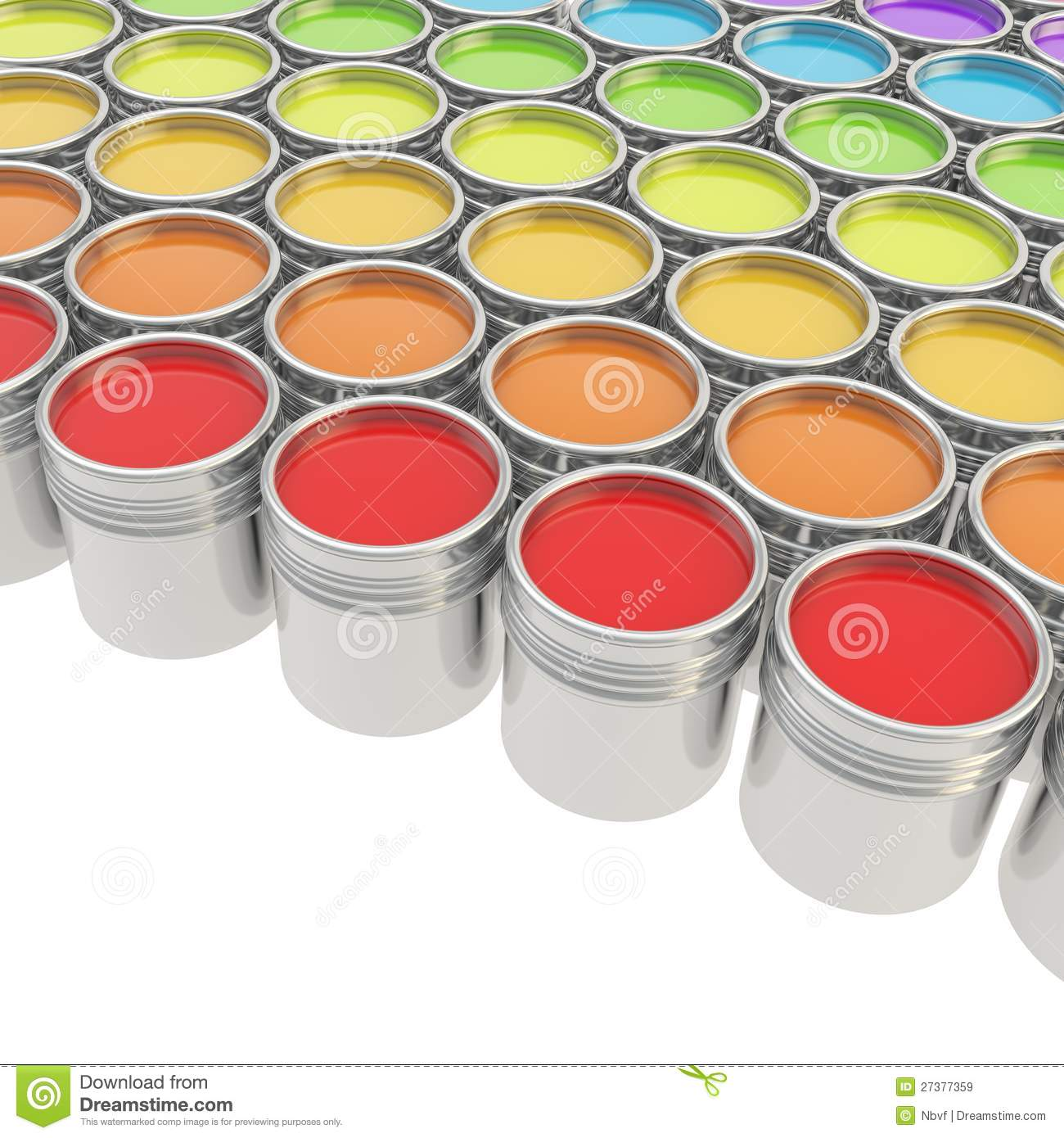 Buckets full of paint over white background royalty free stock images