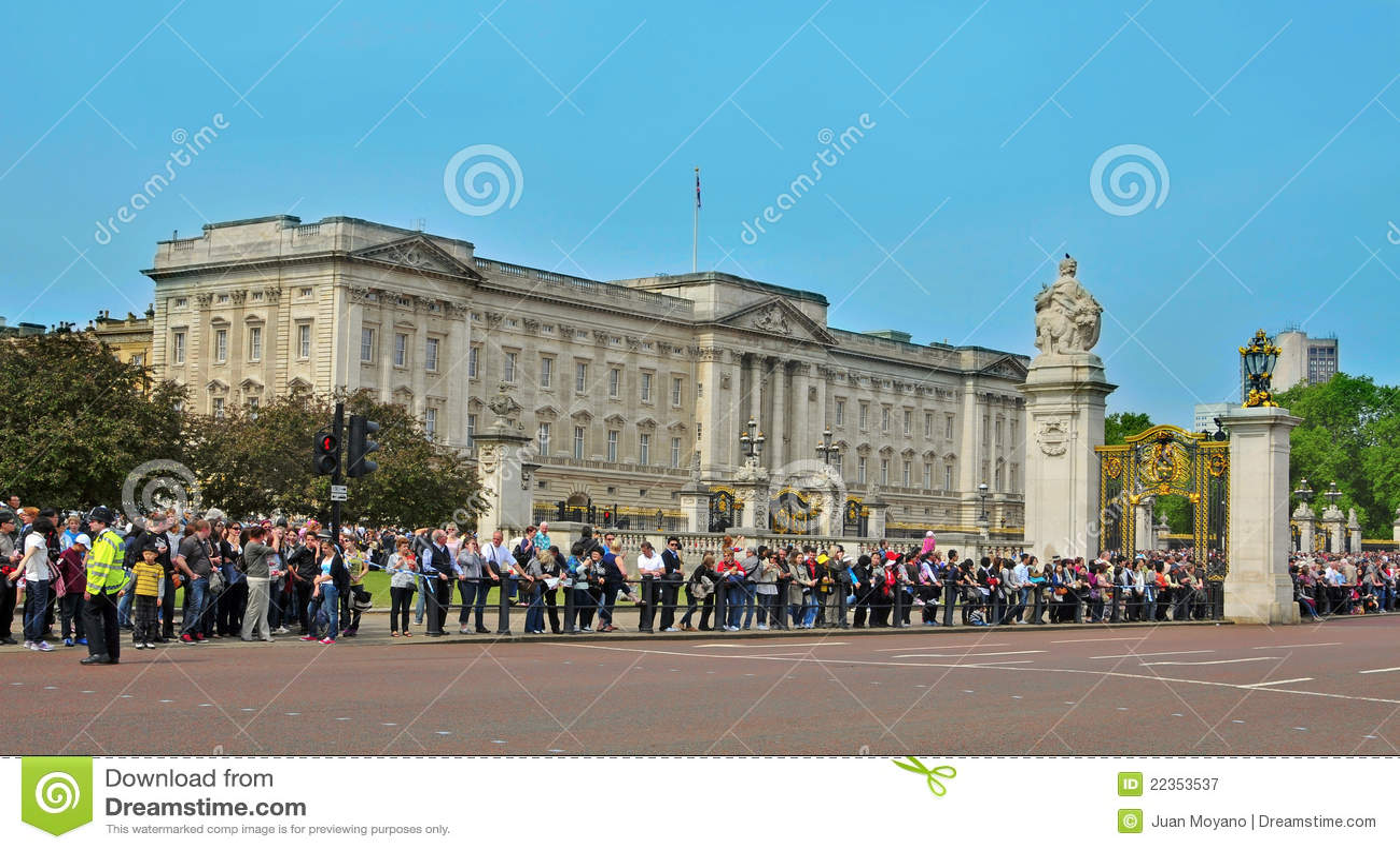 Buckingham王国团结的伦敦宫殿