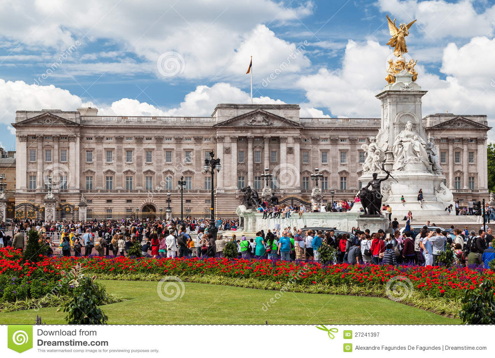 Buckingham Palace-Änderung der Abdeckungen London