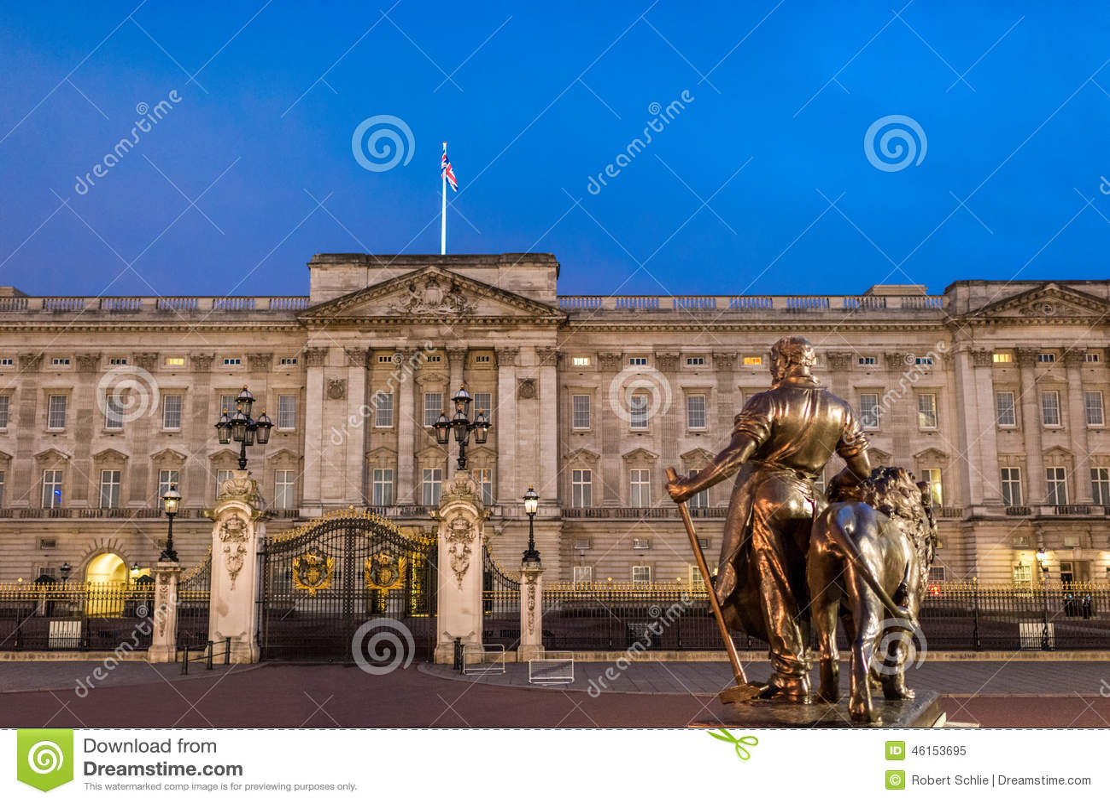 Buckingham Palace en la noche