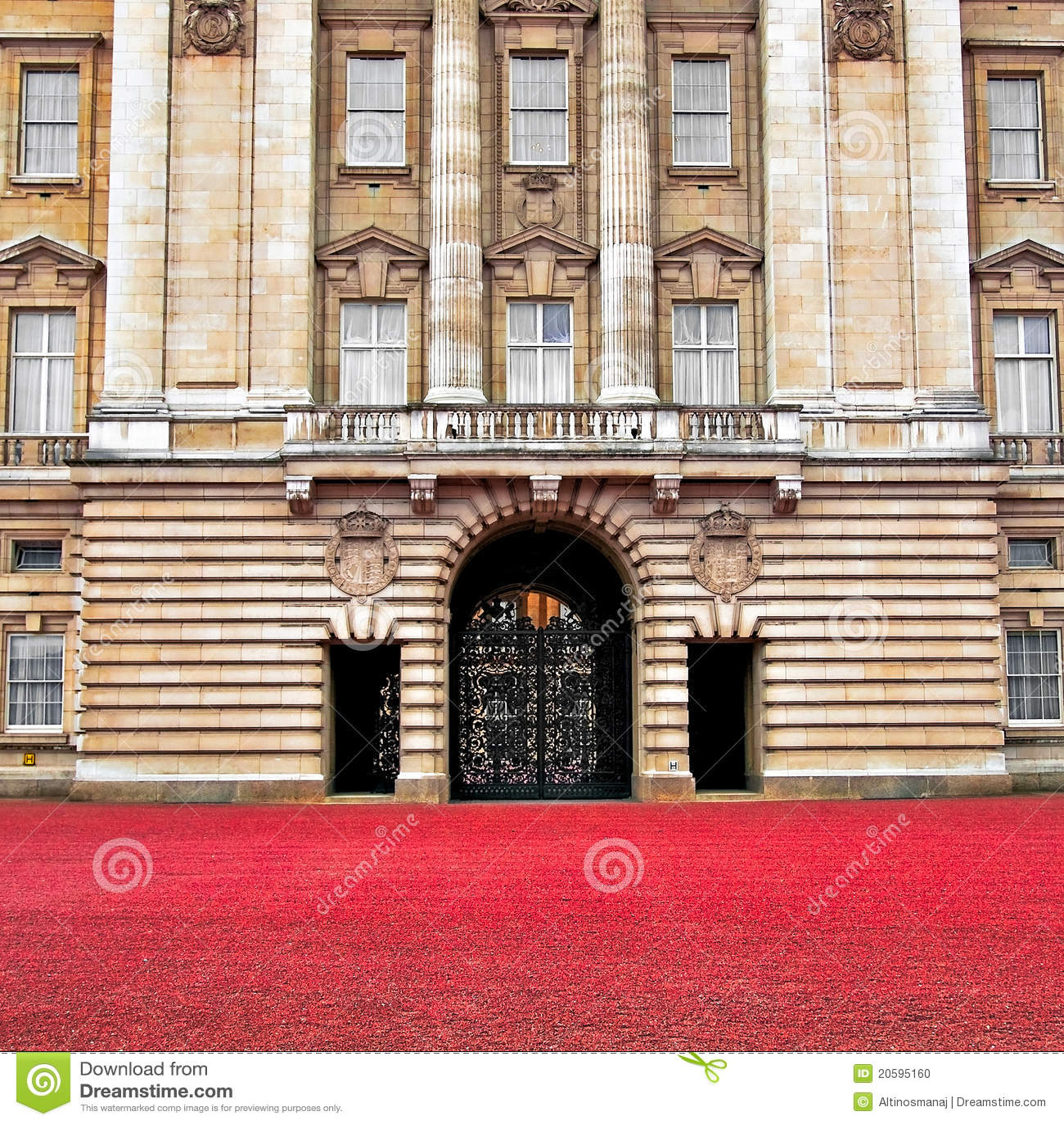 Buckingham palace front gate london editorial image - Buckingham palace interno ...