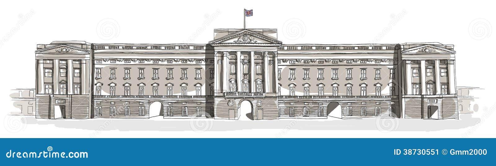Buckingham Palace Line Art Stock Image Image 38730551