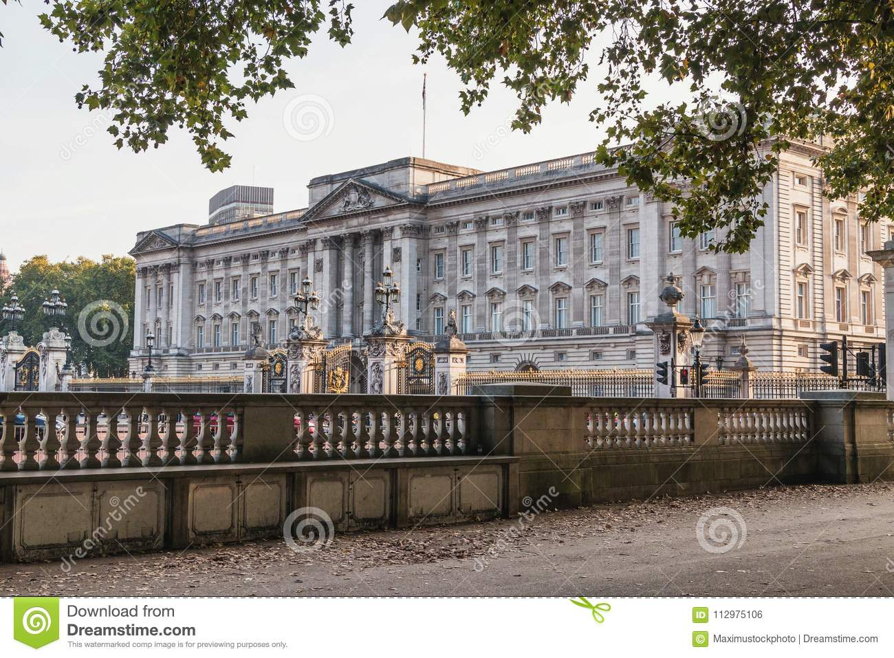 London, Britain, Buckingham Palace - SEP 2014. Home to the Queen of England. Editorial