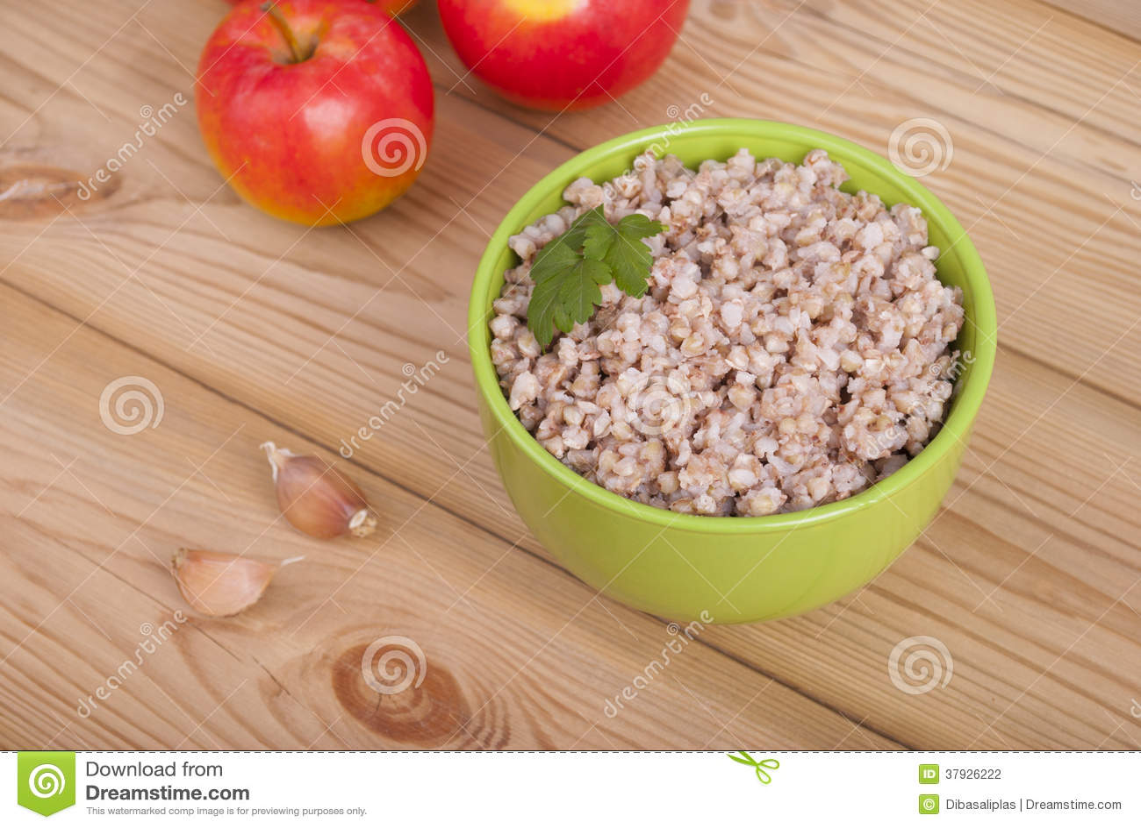 Buckwheat and apples.