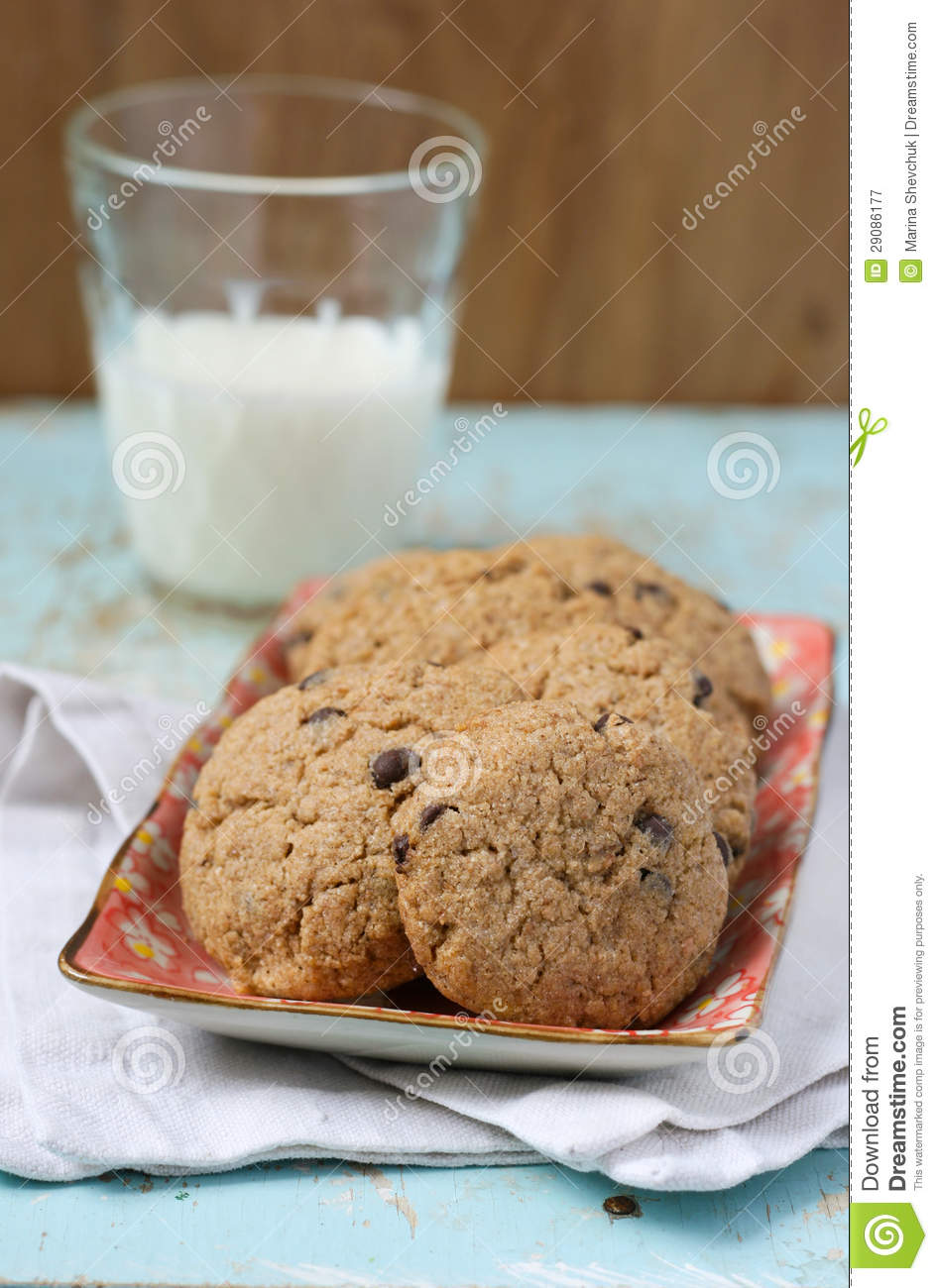 Buckwheat Cookies With Chocolate Chips Royalty Free Stock ...
