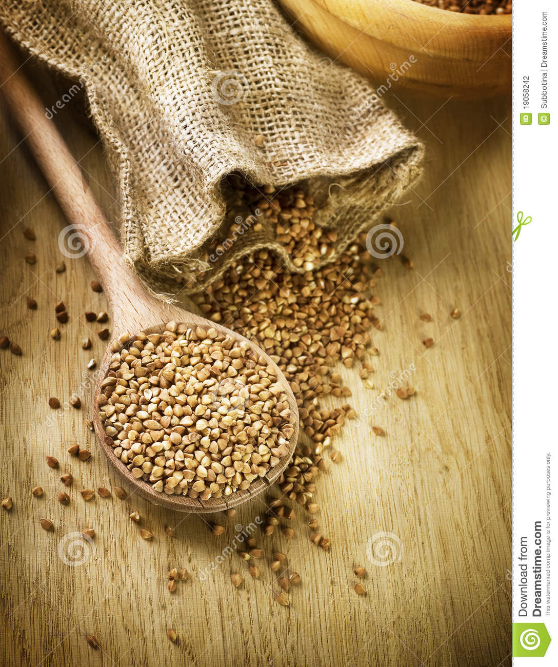 Download Buckwheat groats stock photo. Image of nutrition, grains - 19058242