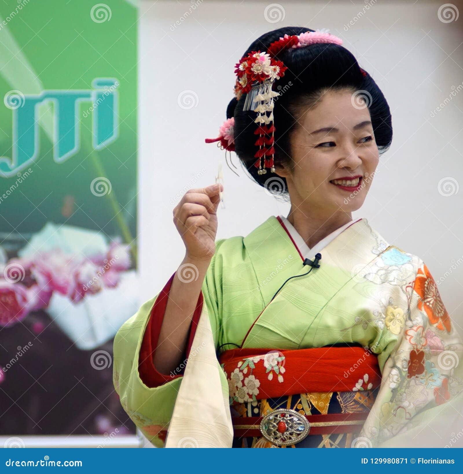 BUCURESTI, ROUMANIE 18 05 Geisha 2018 Umekichi aux jours japonais de culture