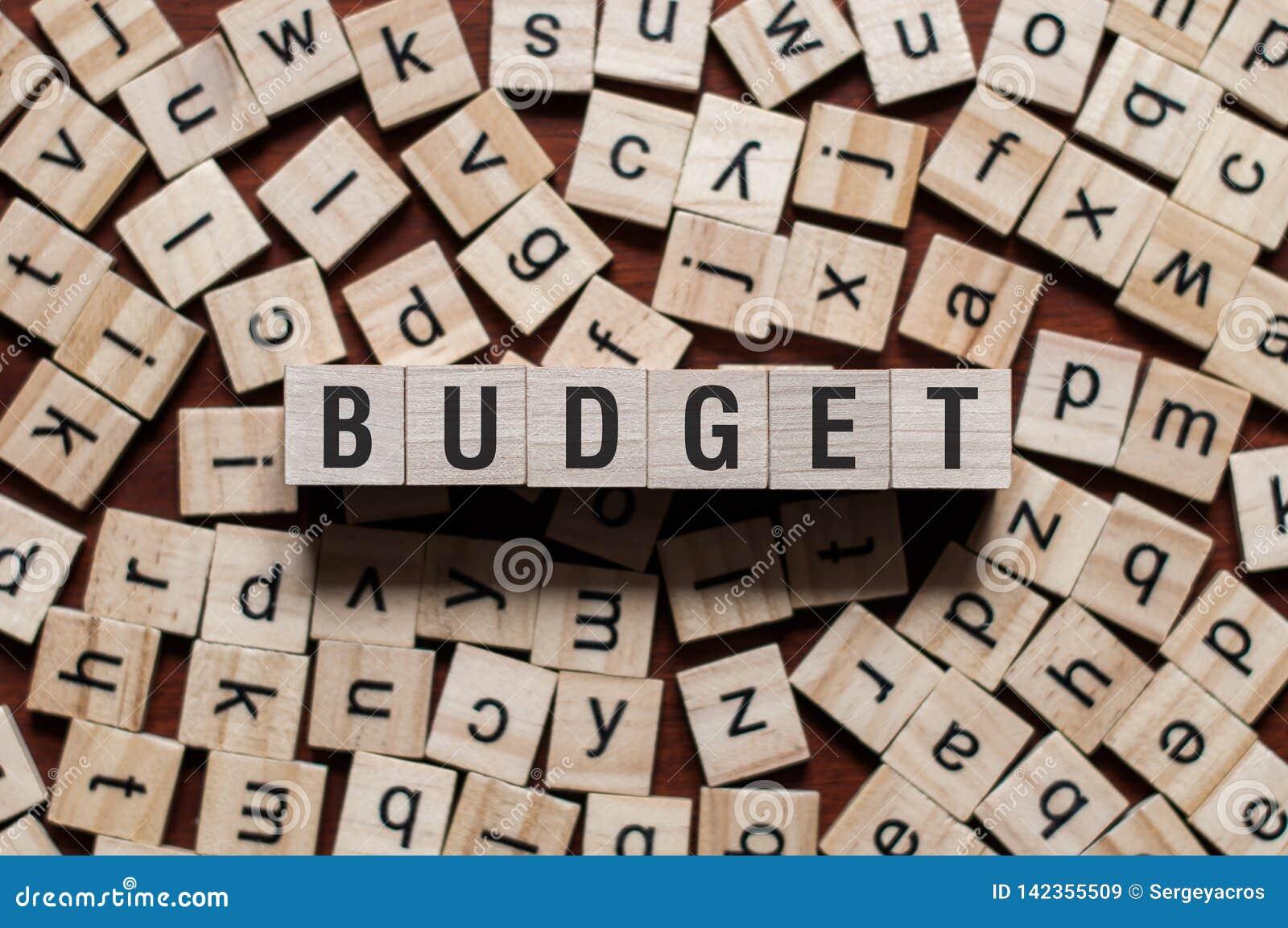 Budżeta słowa pojęcie