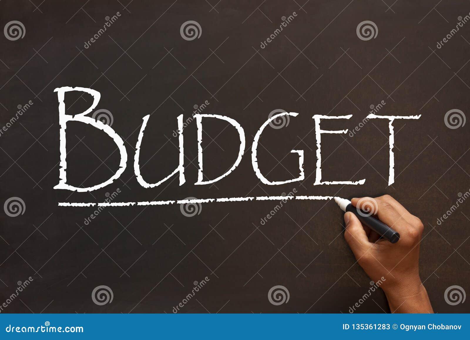 Budżeta słowo Na Blackboard