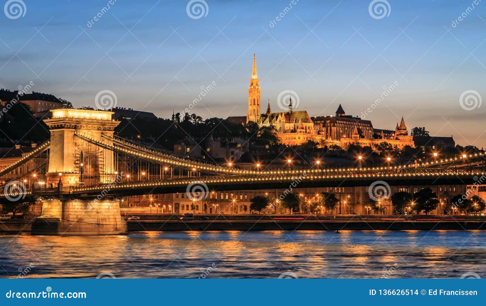 Buda Castle and the Danube.