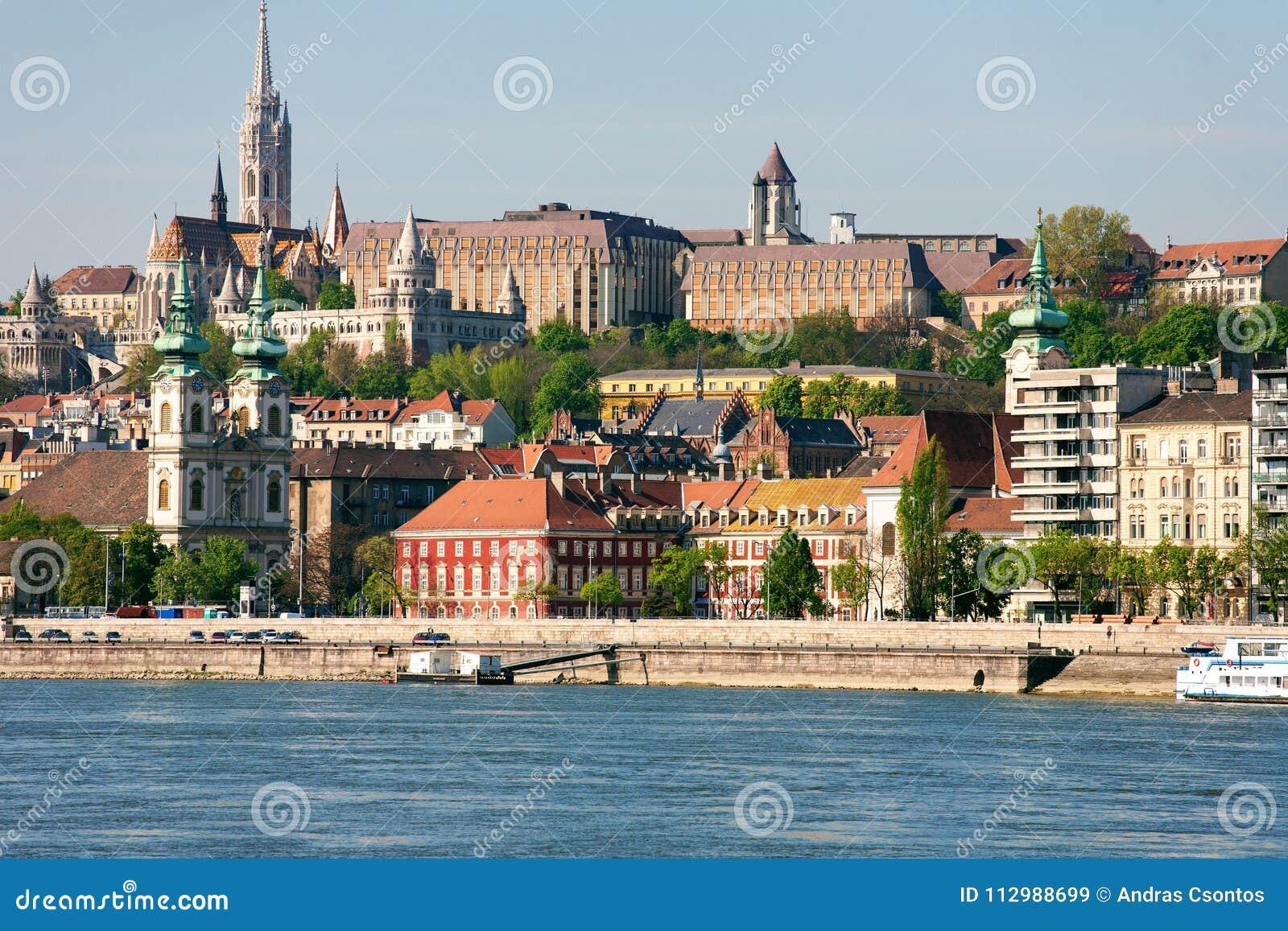 Buda Castle, FSt. Matthias church and Fishermen`s Bastion