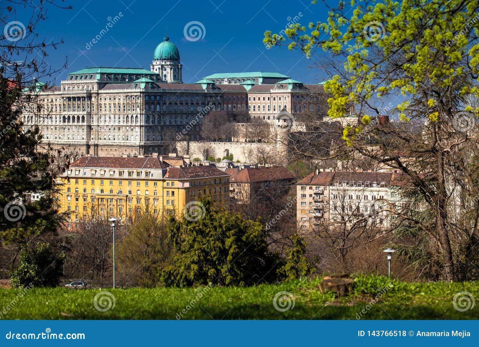 Buda Castle seen from the Garden of Philosophy