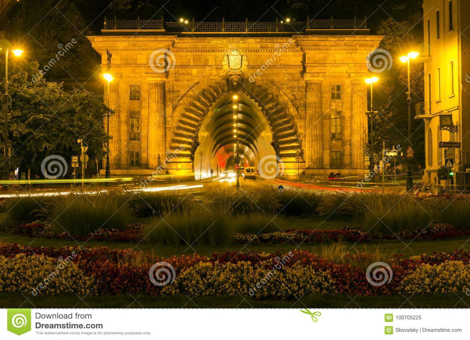 Buda castle tunnel in Budapest