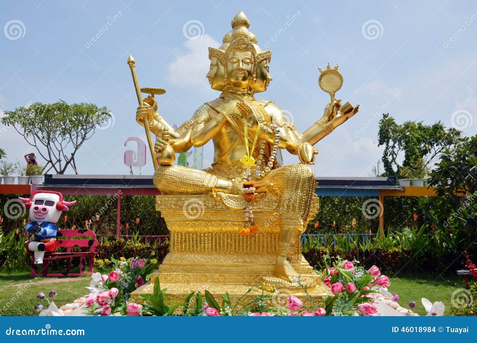 Buda de Brahma em Ayutthaya Tailândia