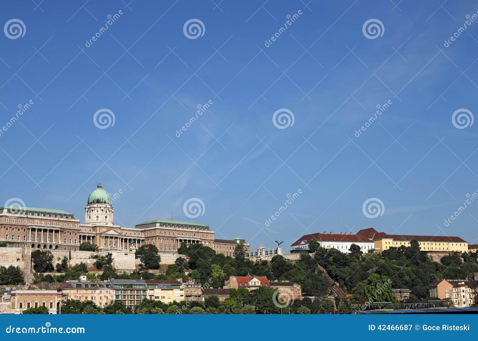 Buda-Schloss auf Hügel Budapest