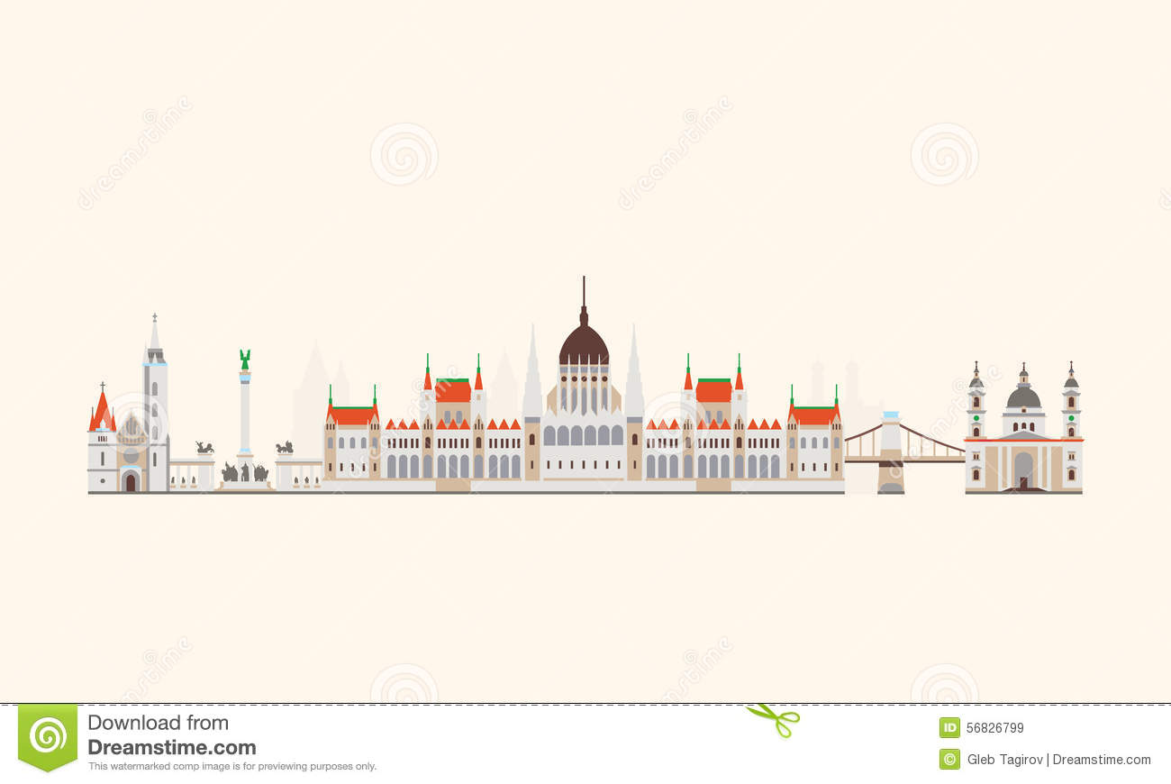 Budapest Abstract Skyline Stock Vector Image Of