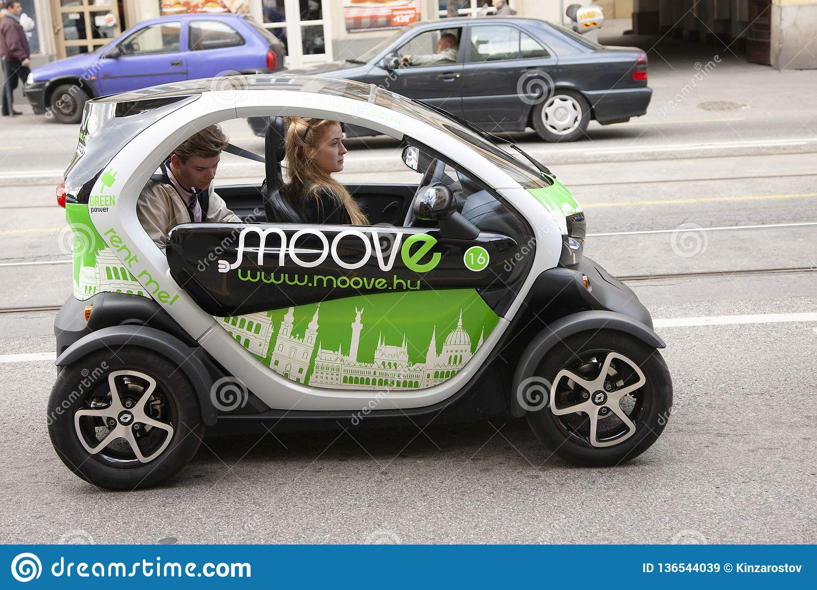 Budapest, Hungary - April 6, 2018: auto business, car sale and people concept