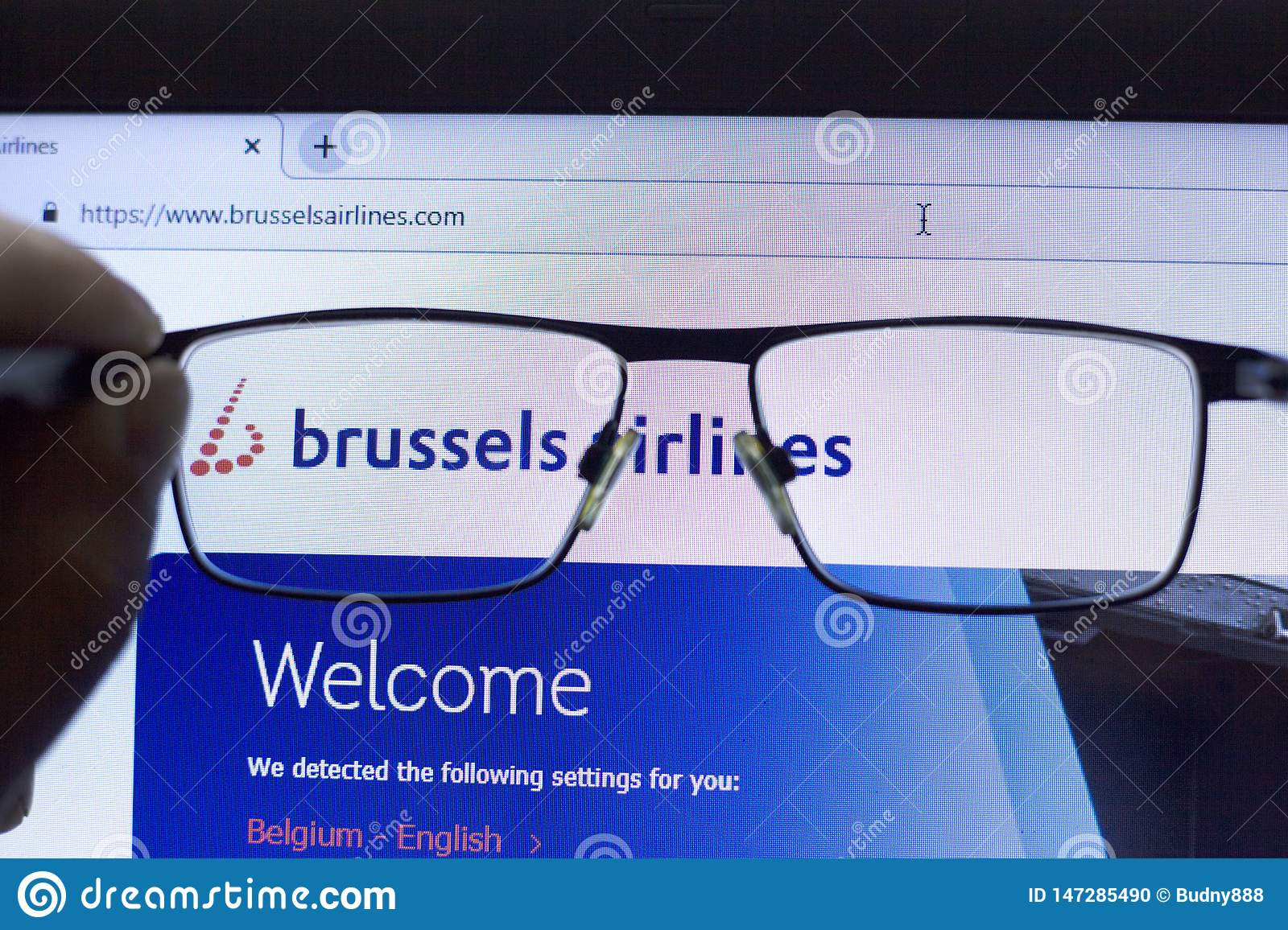 Budapest, Hungary 04.28.2019 :  Brussels Airlines Airline icon Illustrative Editorial