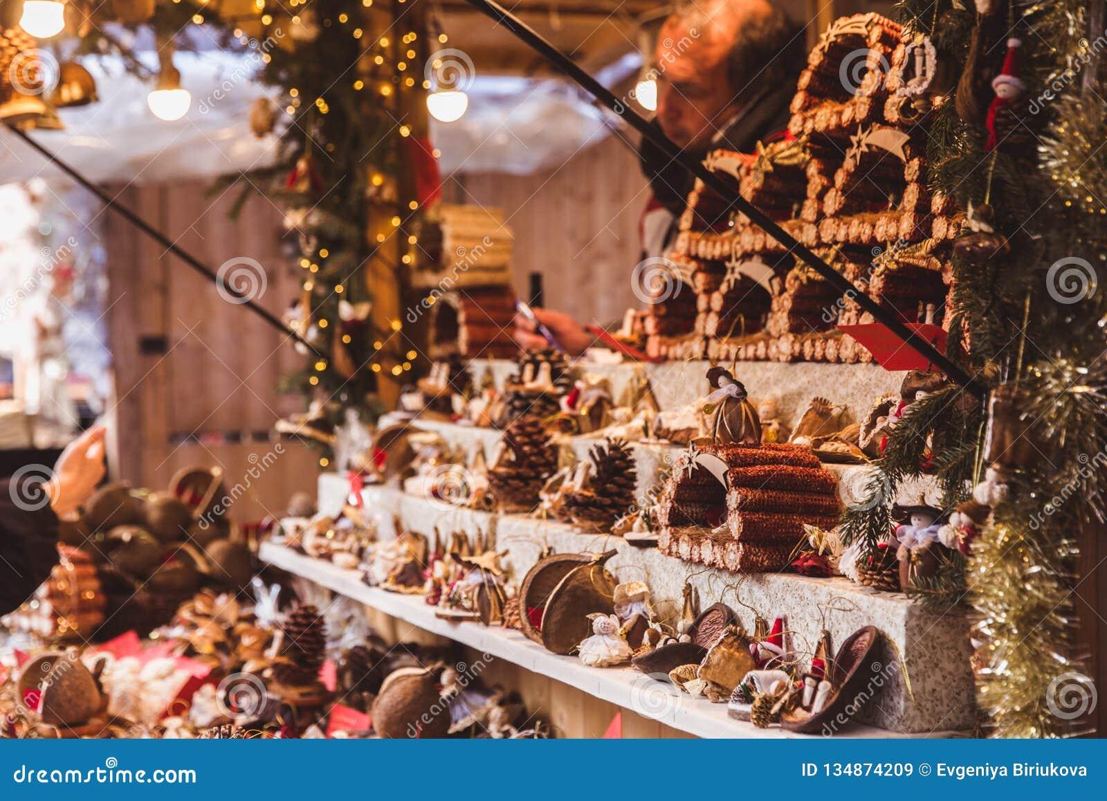Budapest Christmas Market 2018.Budapest Hungary December 19 2018 Tourists And Local