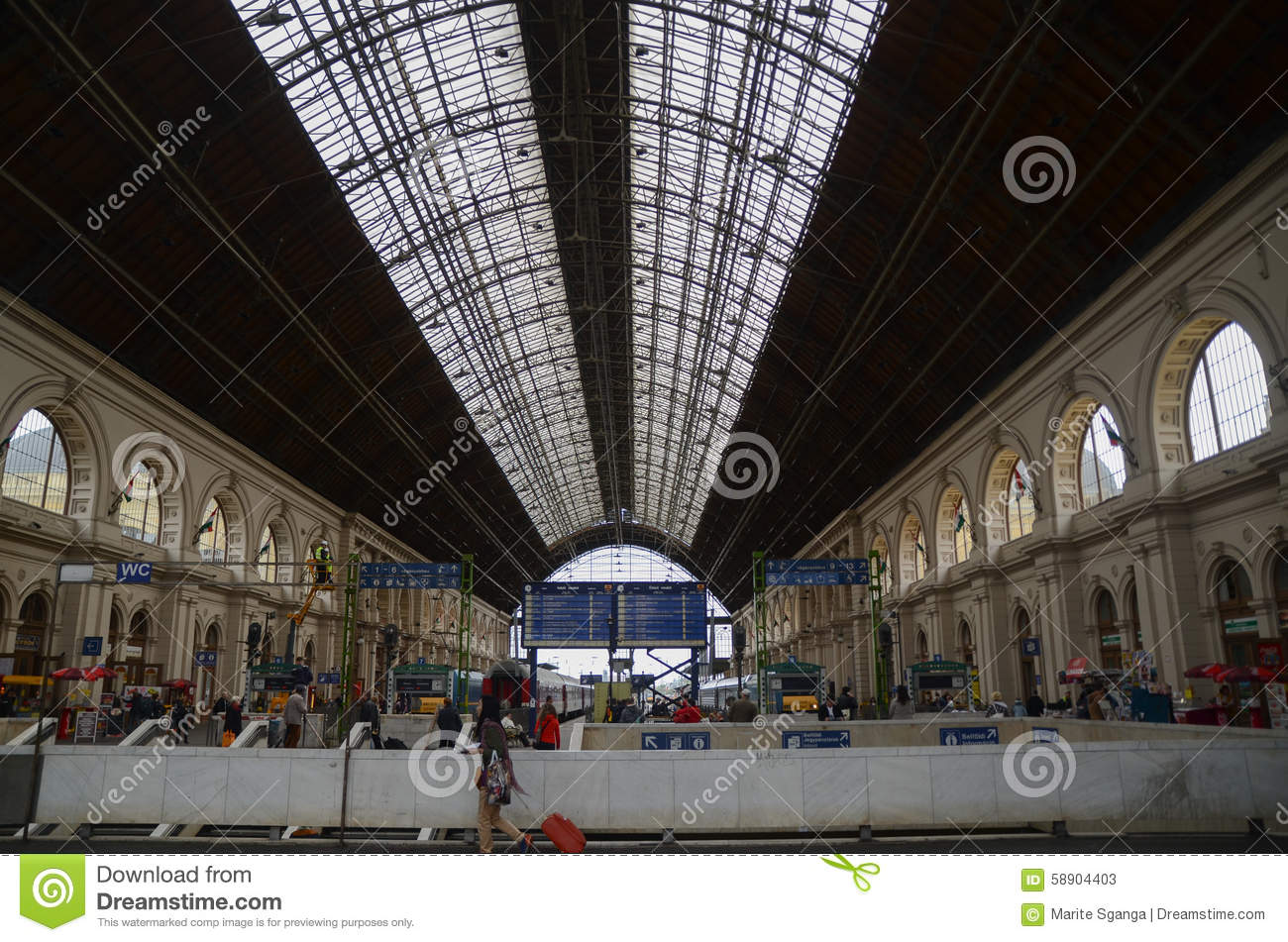keleti railway station in budapest hungary editorial image 74603002. Black Bedroom Furniture Sets. Home Design Ideas