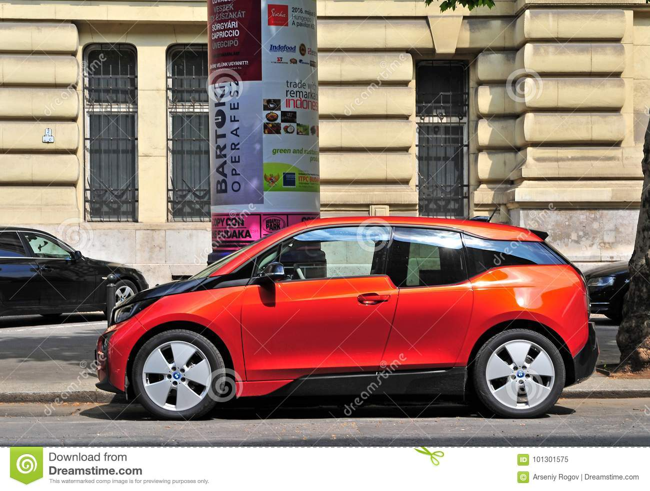 Bmw I3 Electric Car In The Street Editorial Image Image Of Future