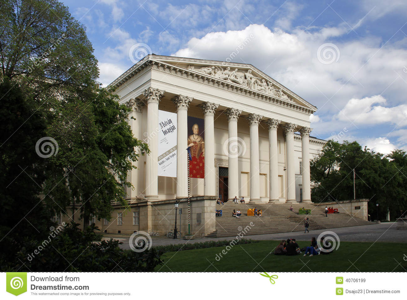 BUDAPEST / HUNGARY - MAY 9: Hungarian National Museum, on May 9, 2014 in Budapest/Hungary