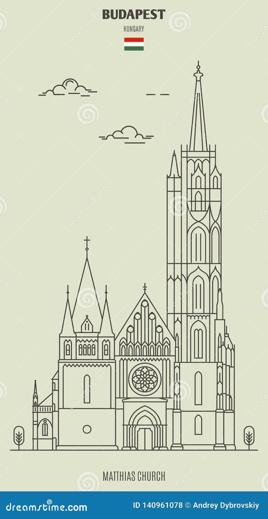 Budapest kyrkliga hungary matthias Gränsmärkesymbol