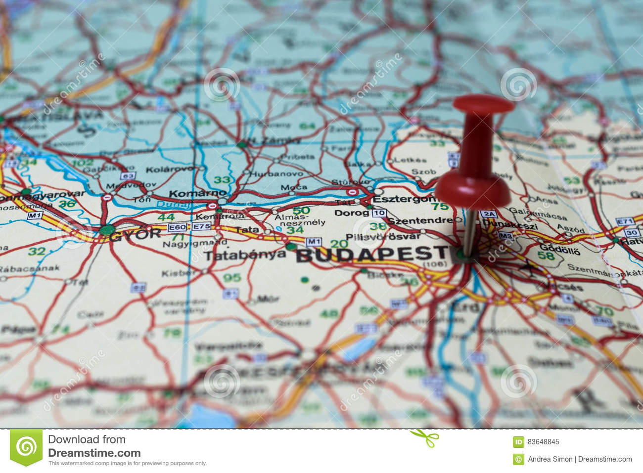 Budapest on map