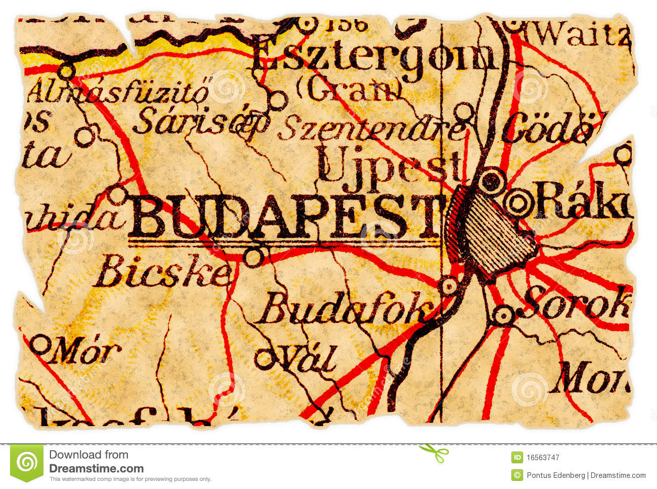Budapest Old Map Stock Image Image Of Retro Vintage - Vintage budapest map