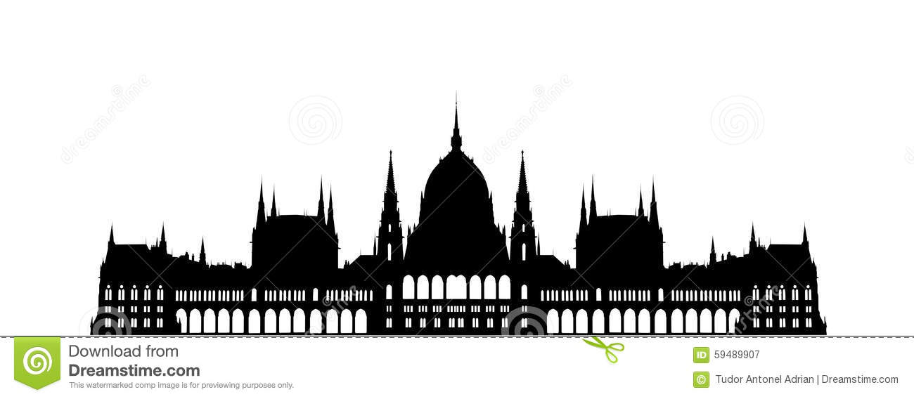 Budapest Parliament Building Stock Illustration Image