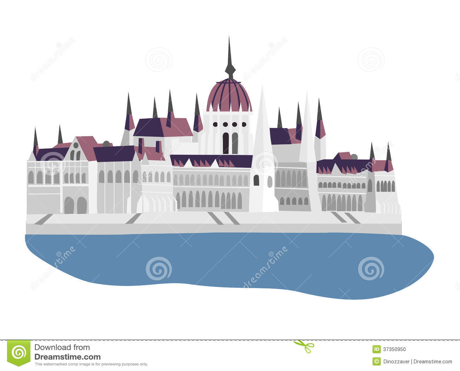 Budapest Parliament Illustration Stock Photo Image 37350950