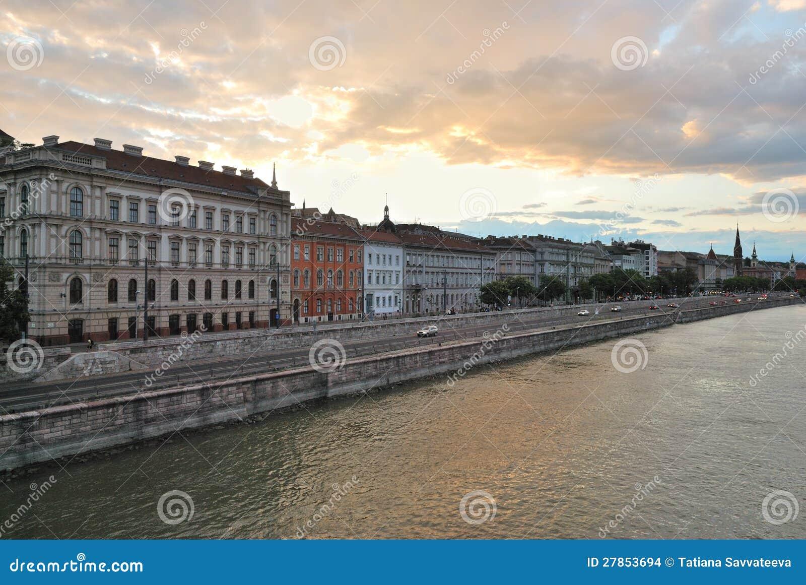 Budapest przy zmierzchem
