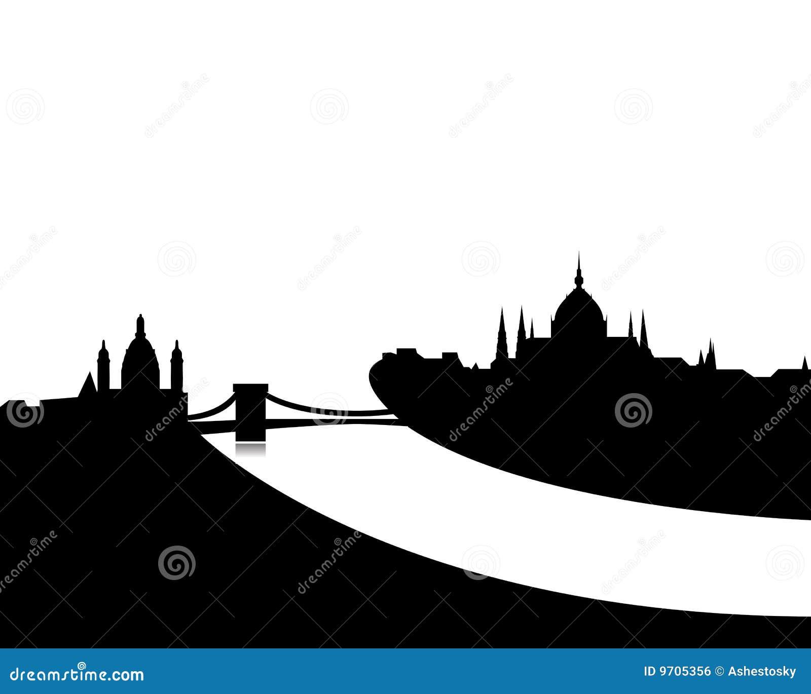 Budapest Skyline Vector Royalty Free Stock Image Image