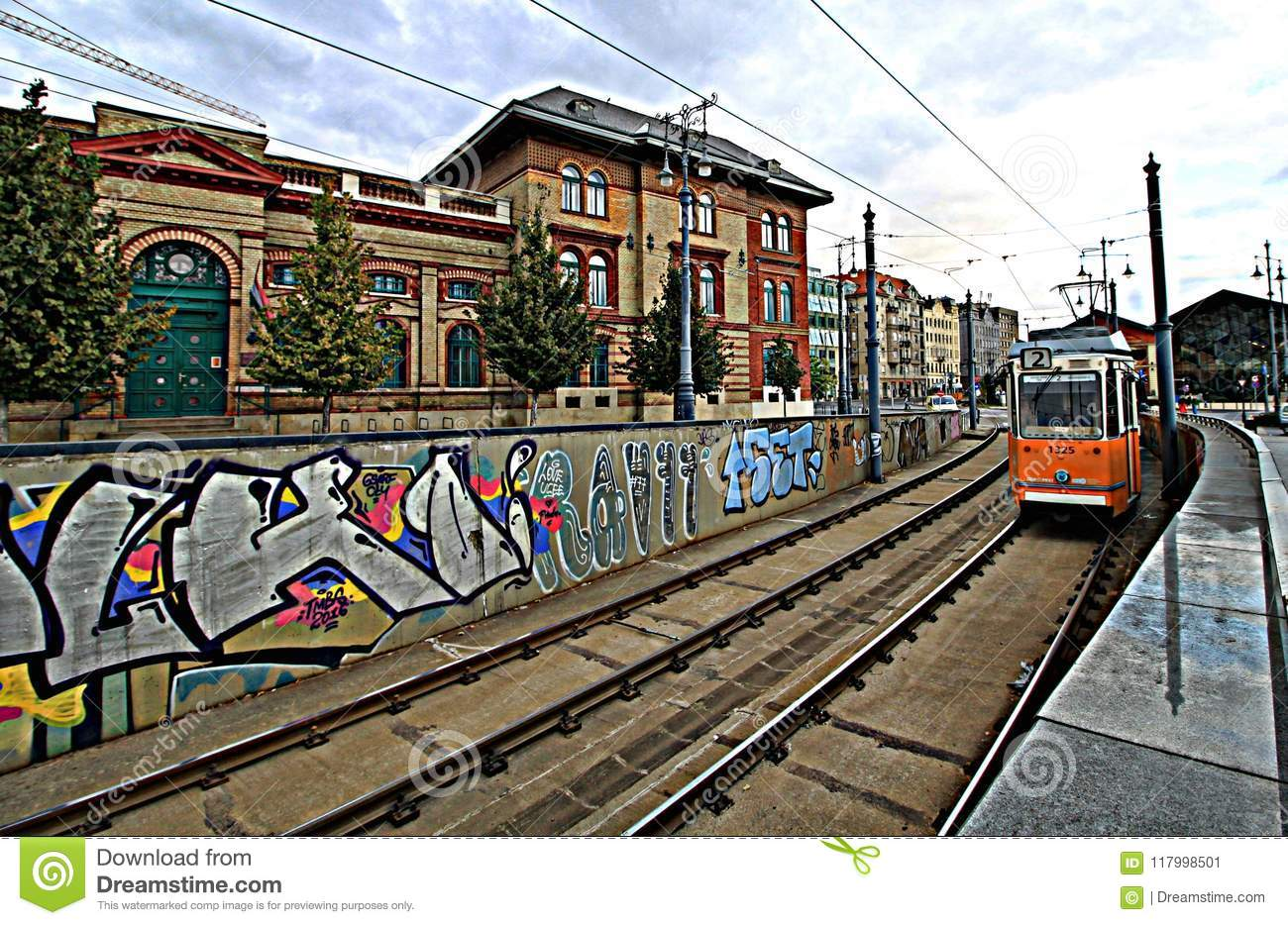 Budapest trains- trams