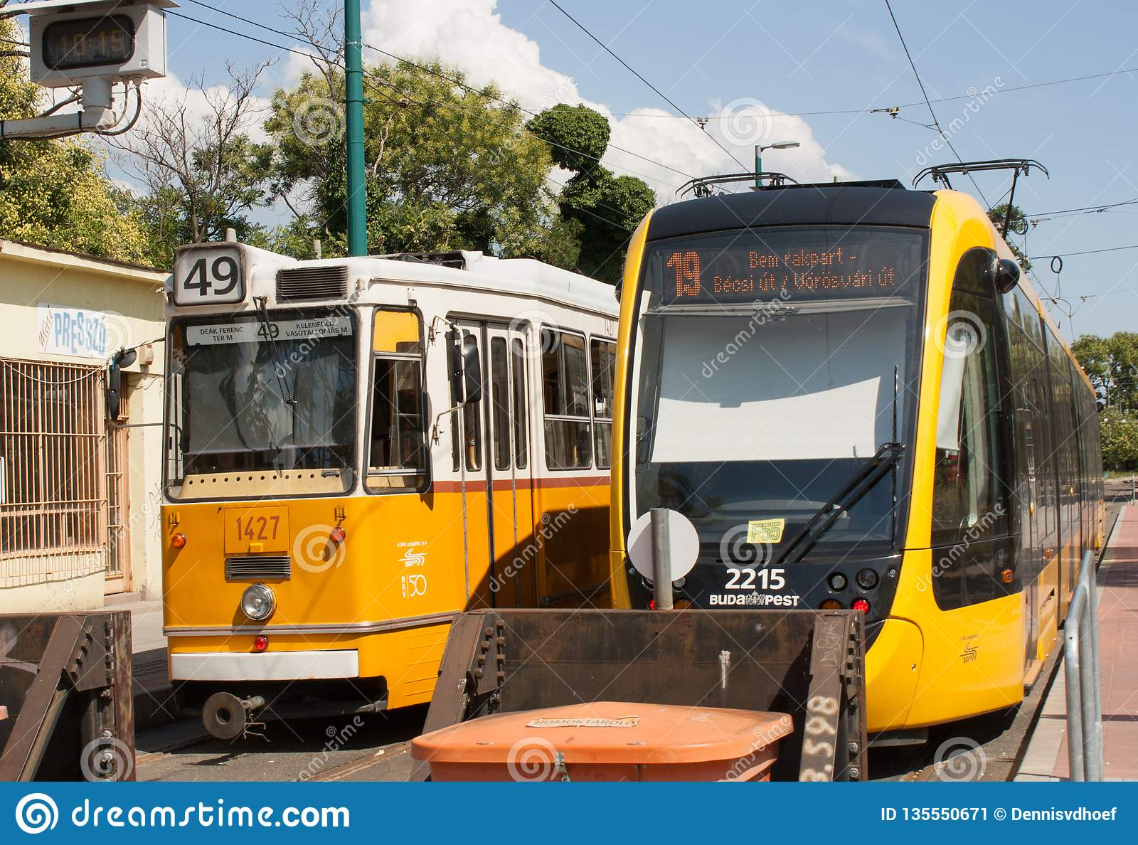 2 budapest trams.