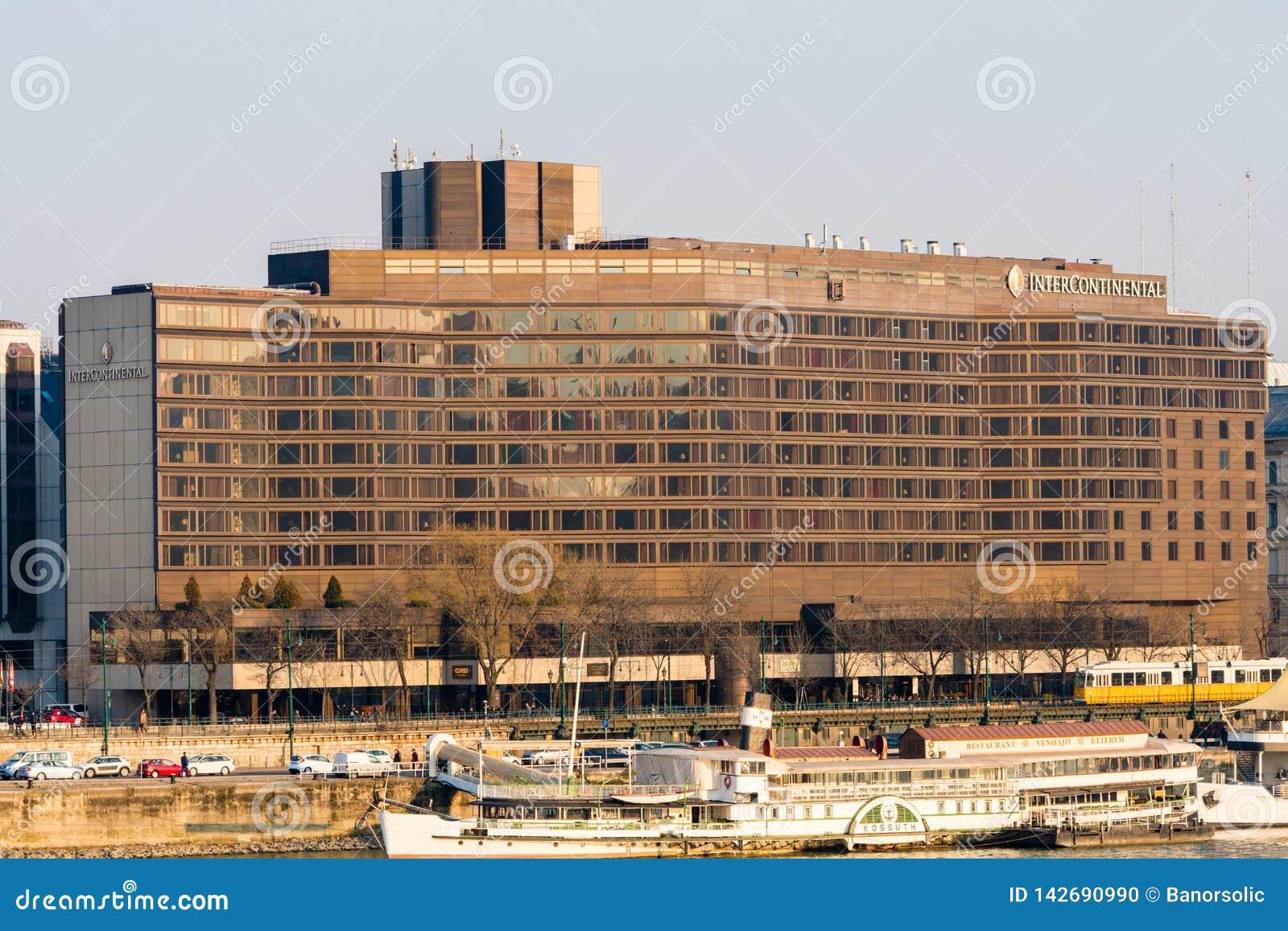 Budapest, Ungheria, il 19 febbraio 2019 - hotel intercontinentale