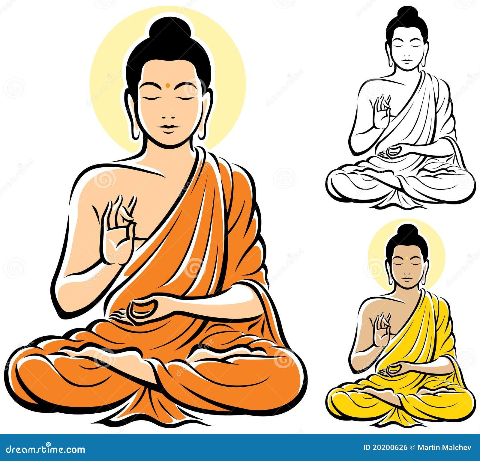 Будда как рисовать