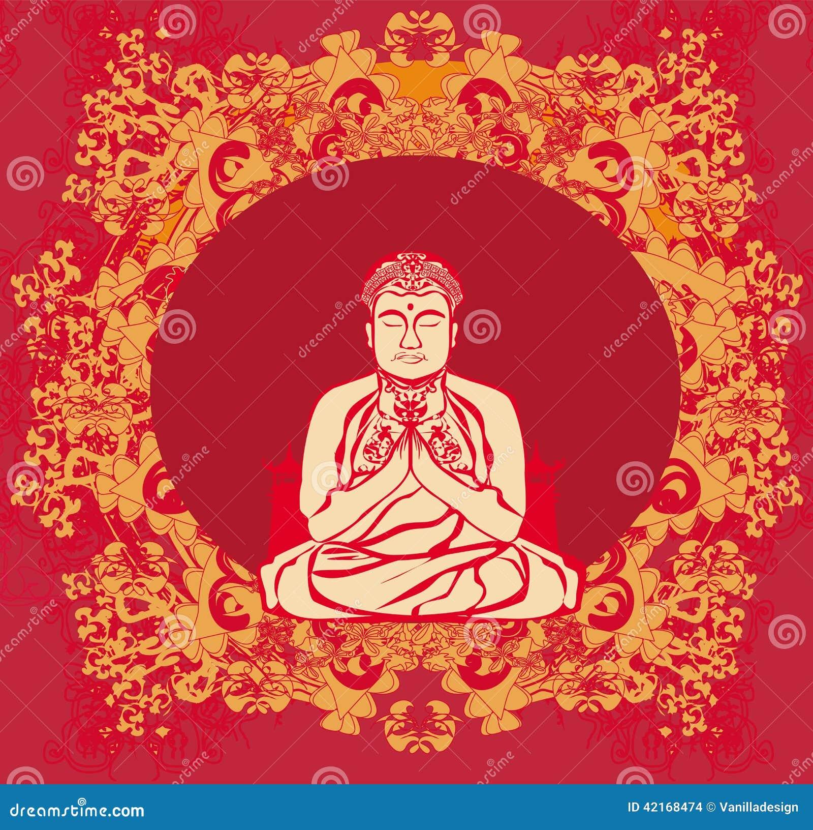 Buddha - abstrakt karta