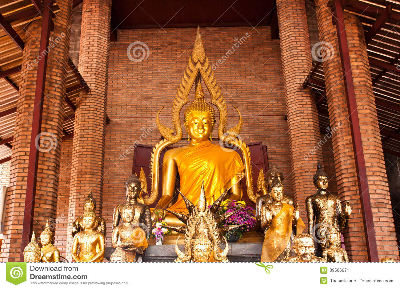 Buddha in brick church