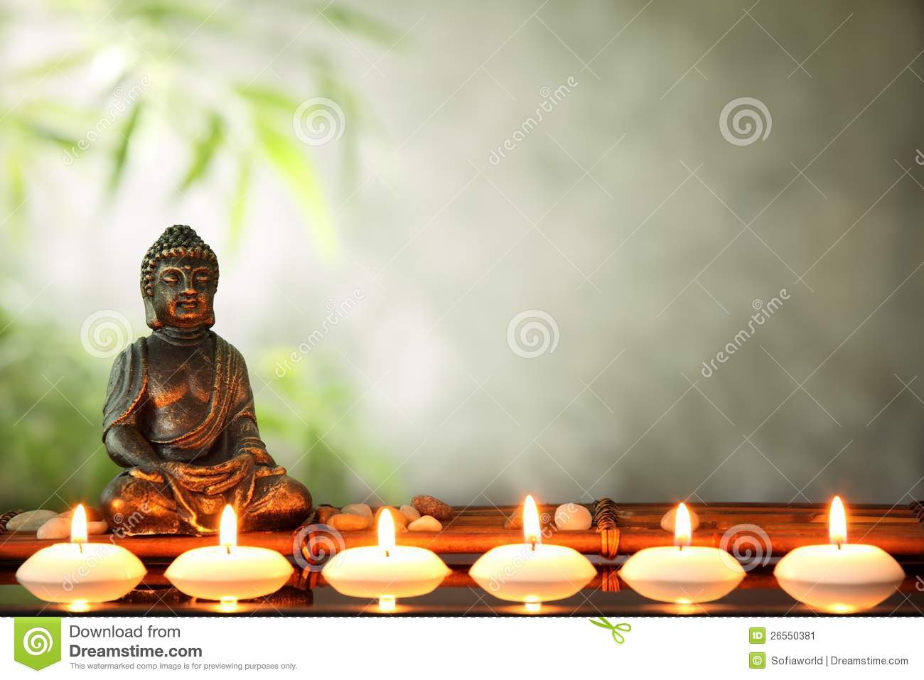 buddha and candles stock image image 26550381. Black Bedroom Furniture Sets. Home Design Ideas