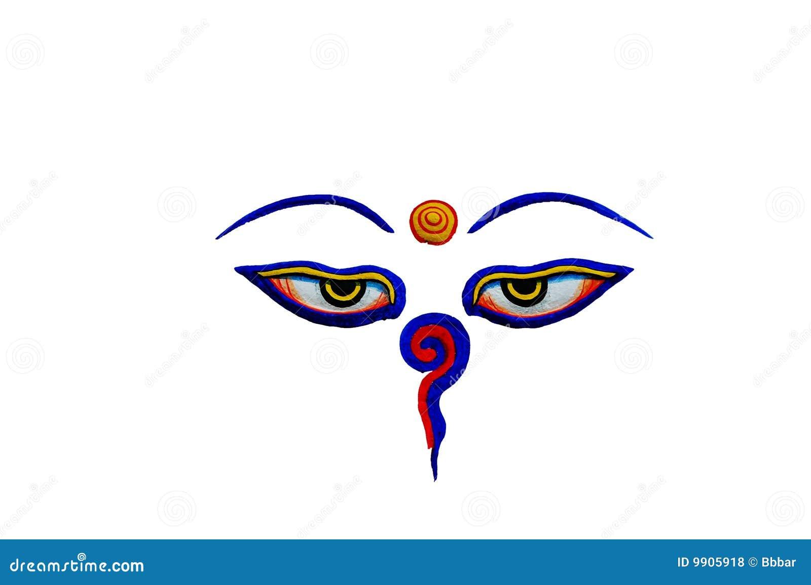 Buddha eyes stock photo image of background golden nepalese buddha eyes biocorpaavc Images