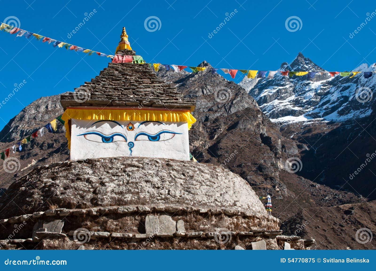 Buddha eyes in Himalayas