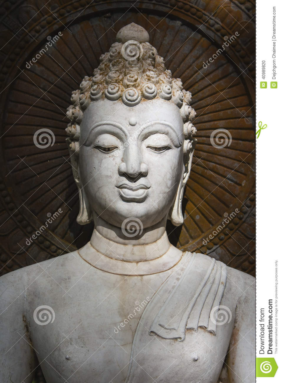 buddha face of budda statue stock photo image 40989820. Black Bedroom Furniture Sets. Home Design Ideas