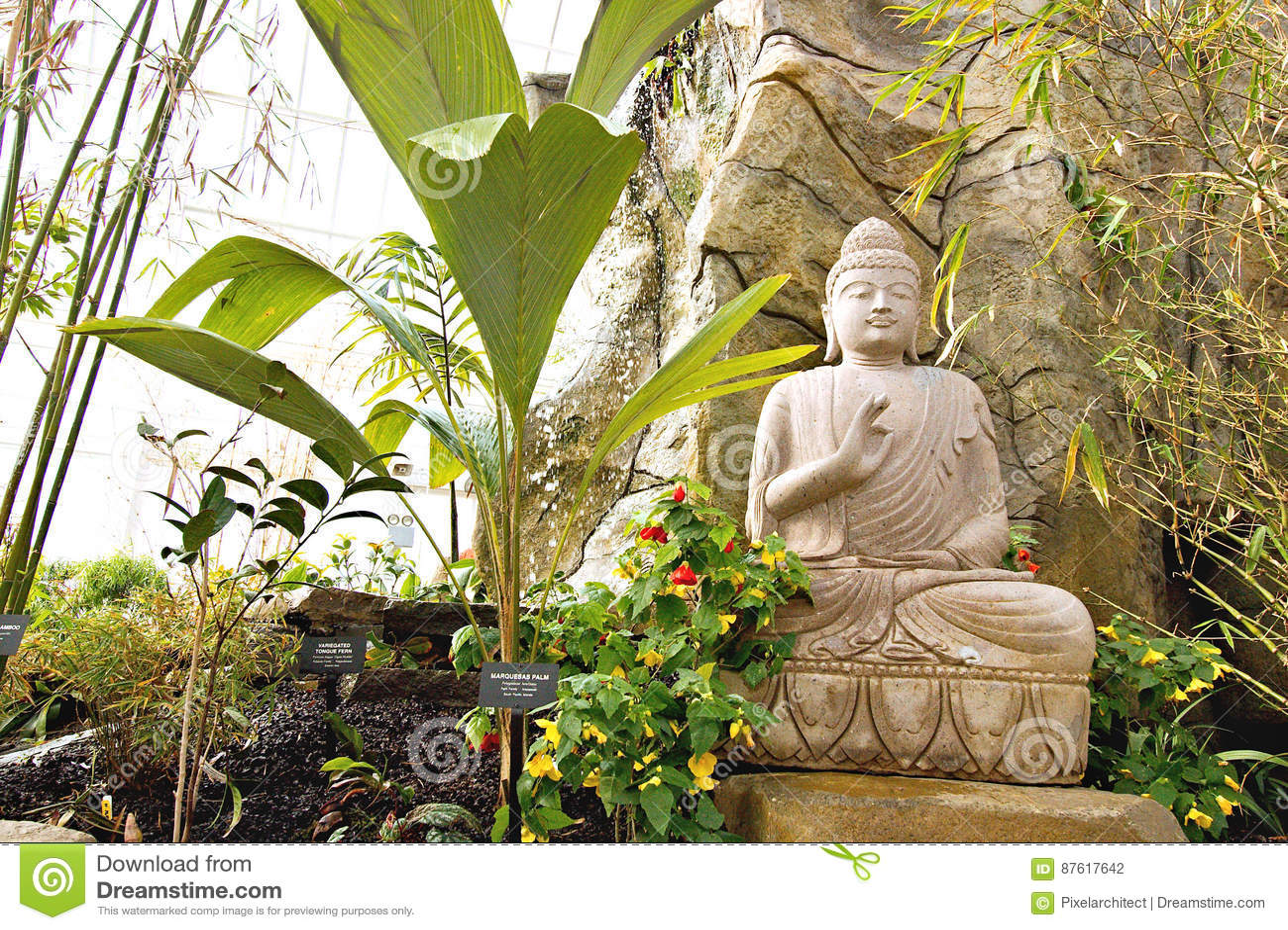 Buddha In The Garden Editorial Photography Image Of Gardens 87617642