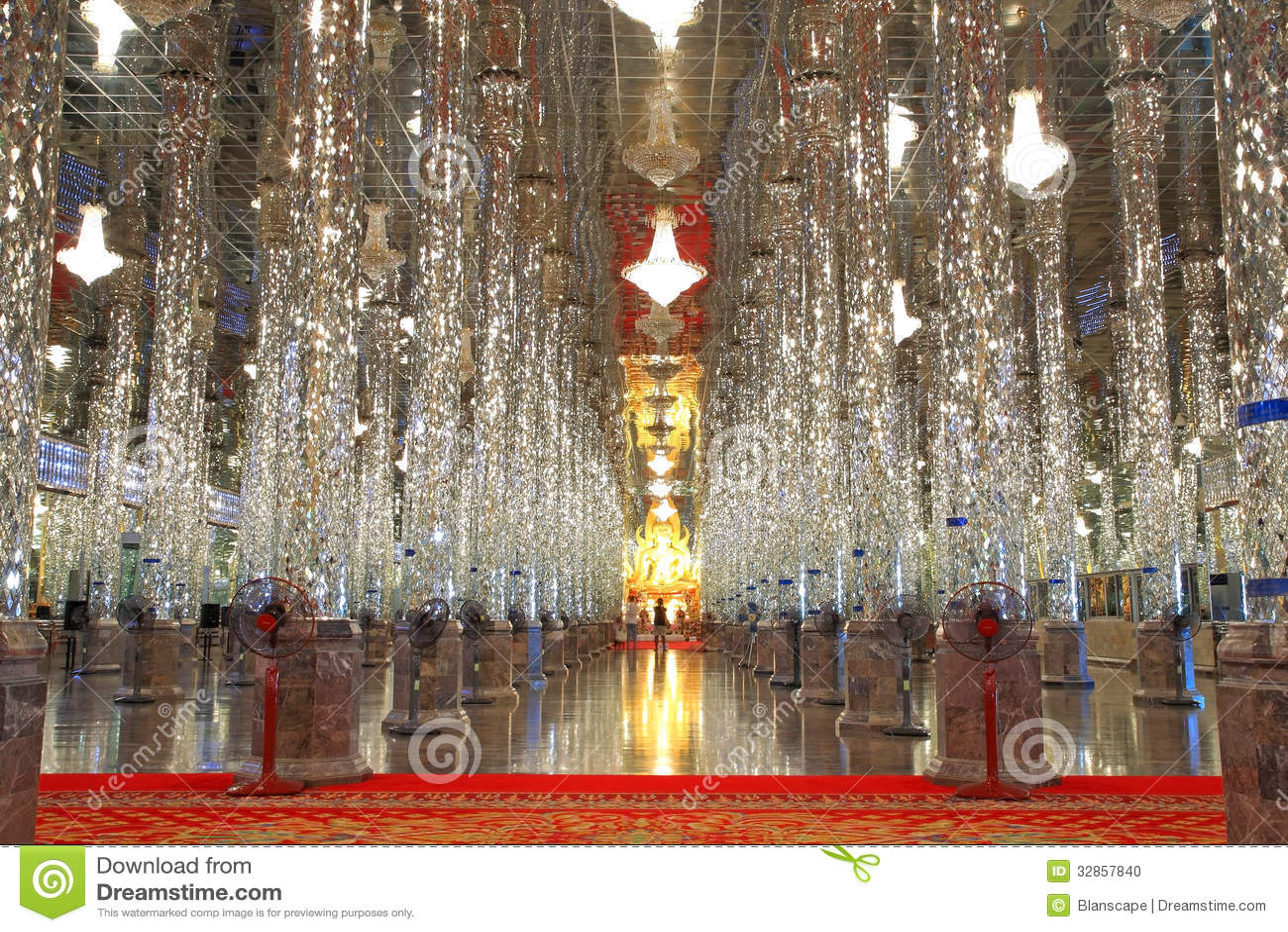 Uthai Thani Thailand  city photos gallery : UTHAI THANI, THAILAND MAY 14: glass pillars and golden Buddha statue ...
