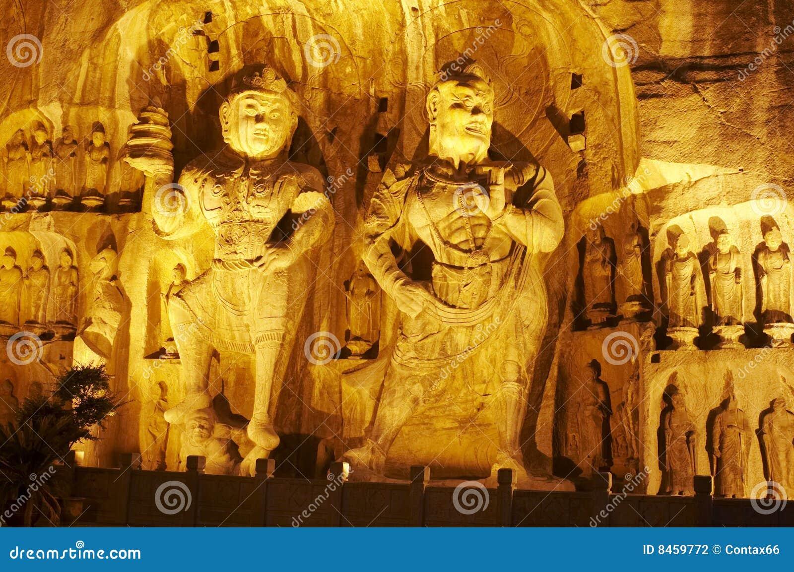 Buddha grottoes longmen natt